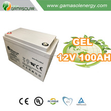 Gama Solar lead acid battery 12v 5ah 50ah 100ah gel solar battery charger