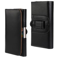 New Phone Leather Case Holster Belt Clip Black Pouch for Apple iPhone 6 plus 5.5'