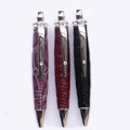 pu leather mini crystal ball pen
