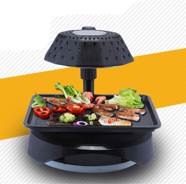 2016 low price smokeless automatic rotate barbecue grill/ thermos electric grill