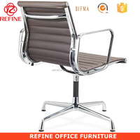 ergonomic swivel chair executive chair leather office chairs without wheels for coffee shop RF-S072O