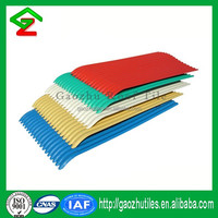 Corrugated one layer heat proof roof tiles pvc roof sheet