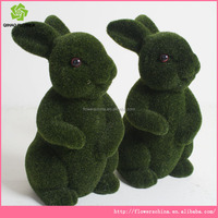 artificial animal topiary fake grass animal for decor