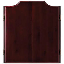 Wooden dart board cabinet set for dartboards