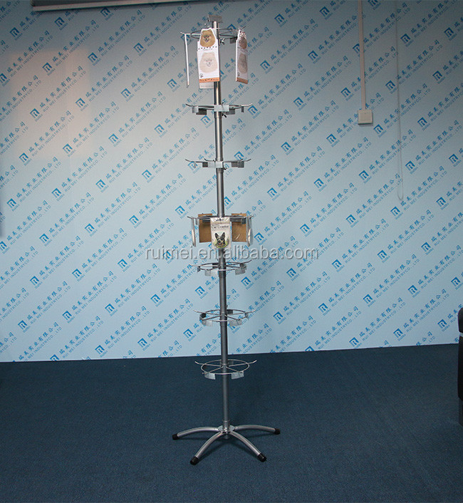 Metal hanging rack for note paper or accessories display rack for hanging items