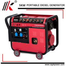 5KW 6KW 7KW SUPER SILENT SMALL AIR COOLED GENERATOR PORTABLE SILENT DIESEL GENERATOR SET FOR SALE