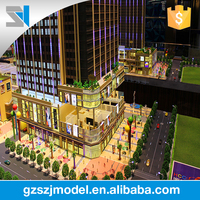 Contemporary and contracted style business center 3d architectural model