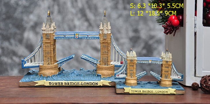 World famous Europe British building Tower Bridge of London Resin Micro architecture