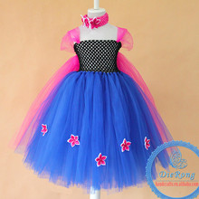 baby girl party dress children frocks designs girls blue with pink tutu dress matched cape for party