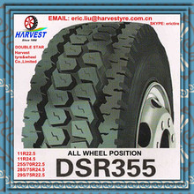double star 11R22.5 11R24.5 255/70R22.5 285/75R24.5 295/75R22.5 truck tire DSR355 all position
