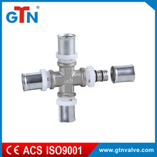 High quality hydraulic hose copper equal cross nickel plated fitting ART110N press fitting
