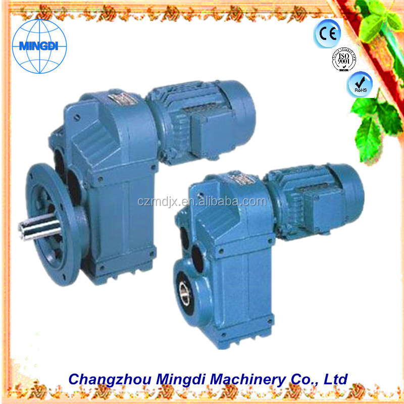 changzhou machinery F/KAF Series Helical-bevel Gearbox Transmission Parts Parallel Shaft Reducer for extrusoras de plastico