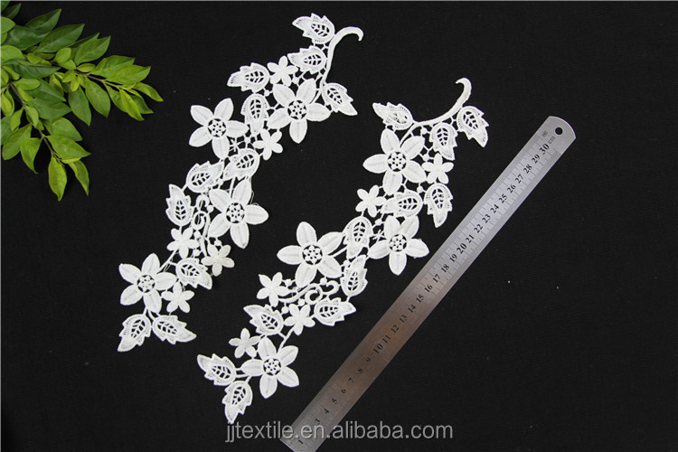 fabric flower patterns embroidered collar lace applique