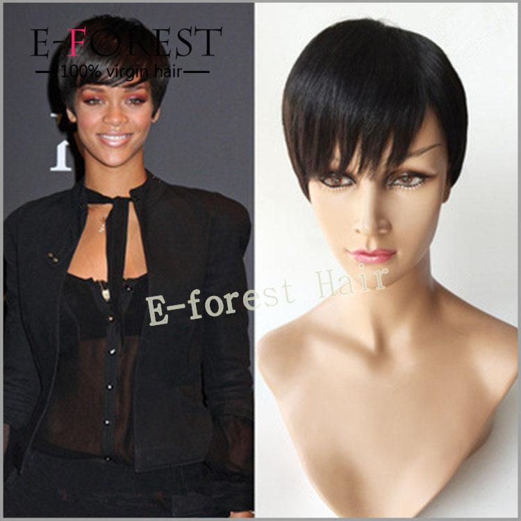 Wigs Glueless Indian Hair Cut Short Bob Style Wigs For Black Women ...