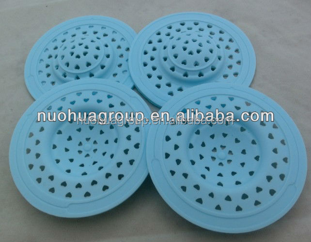 kitchen bathroom mesh stainless steel silicone sink strainer