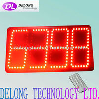 CE and RoHS indoor led clcok display with countdown,time,temperature function