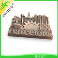 Barcelona building magnet for tourist souvenir