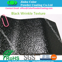 SGS RoHS Certified Textured Black Polyester Powder Coating Paint for Exterior