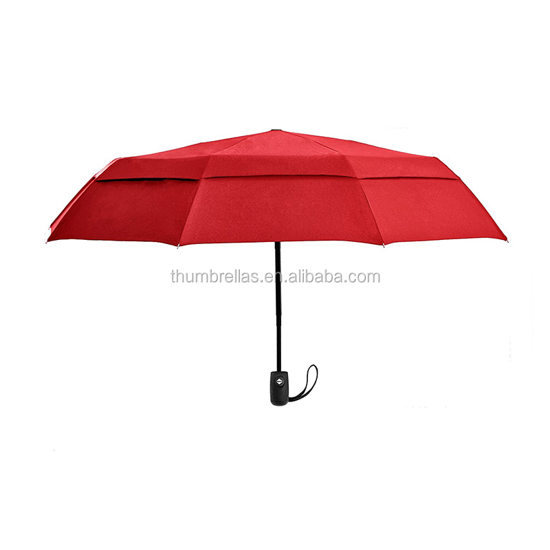 2017 Latest Inventions 21 Inch Pocket Size Windproof Double Layer Automatic Compact Travel Umbrella
