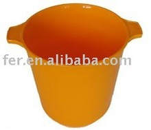 107048 ORANGE PLASTIC ICE BARREL