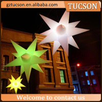 Outdoor multi-color decoration inflatable air star balloon with led light