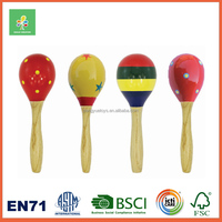 Colorful Design Plain Wooden Maracas For