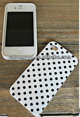 Cheap price Polka Dots Black White Snap-On Hard Protective Case for iPhone 4/4S