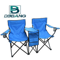 Canvas Portable Folding Double Camping Chair With Pinic Table