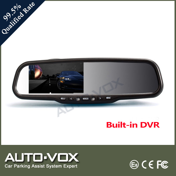 HD built-in DVR rearview mirror with backup camera
