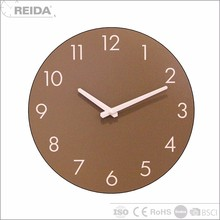 Reida analog wood quartz wall shabby sublimation mdf clock