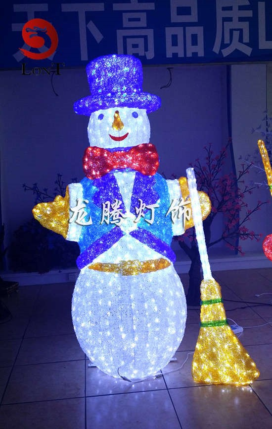 3D Acrylic led christmas lights snow man