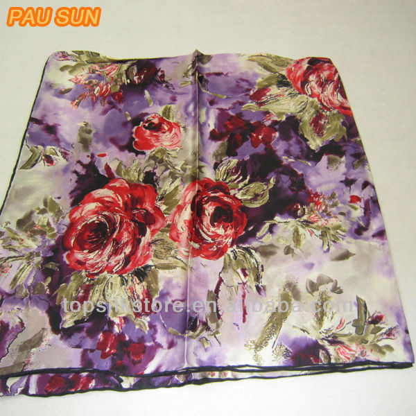 Jet Printed Silk Scarf For Women