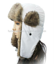 Winter Rabbit Russian Fur Hats With Earflaps Fur