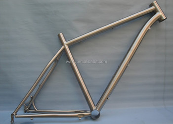 Outstanding titanium 26er MTB bike frame with external cable routing