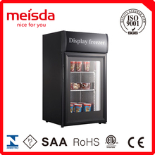 display freezer food refrigeraor 50L commercial chiller with top lampbox