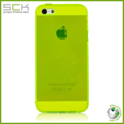"For iPhone 5 5"" crystal clear transparent tpu case cover"