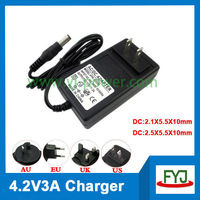 lipo battery charger 4.2v 3a 3.7v lipo charger 4.2v YJP-042300 with EU US UK AU plug Fedex/DHL free shipping