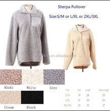 Wholesale Hot Selling Sherpa Fleece Pullover