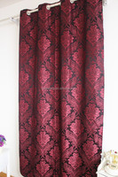 2015 new designs red jacquard damask curtains