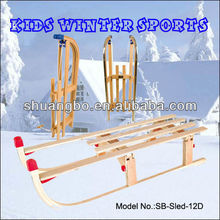 EN71 Passed Folding Wooden Snow Sledge for Kids