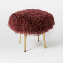 Dyed Decorative Long Hair Mongolian Lamb Fur Cushion