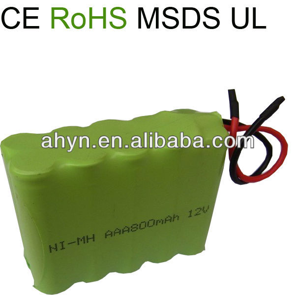 nimh AAA 800 12V battery for miner's lamps