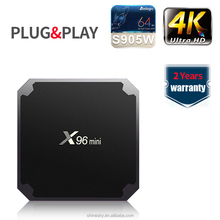 Comercio al por mayor Android Smart TV Set Top Box X96 mini amlogic S905W Quad Core 2 GB 16 GB Full <span class=keywords><strong>HD</strong></span> 4 K Media Player