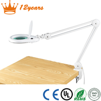 Factory manufactured LED magnifying lamp, Table Desk Clamp Mount 8066D2-4C LED Magnifying lamp Beauty Equipment