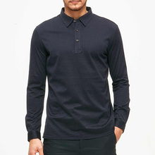 Online Shopping India High Fashion Clothing Polo Shirts For Men 100% Cotton Long Sleeve T Shirt Wholesale