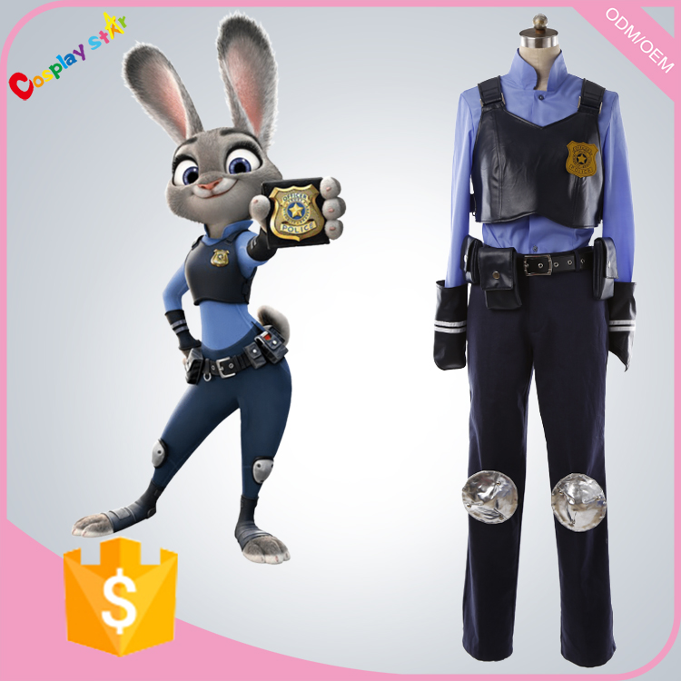 2016 New Anime Zootopia Judy Rabbit Cosplay Costume
