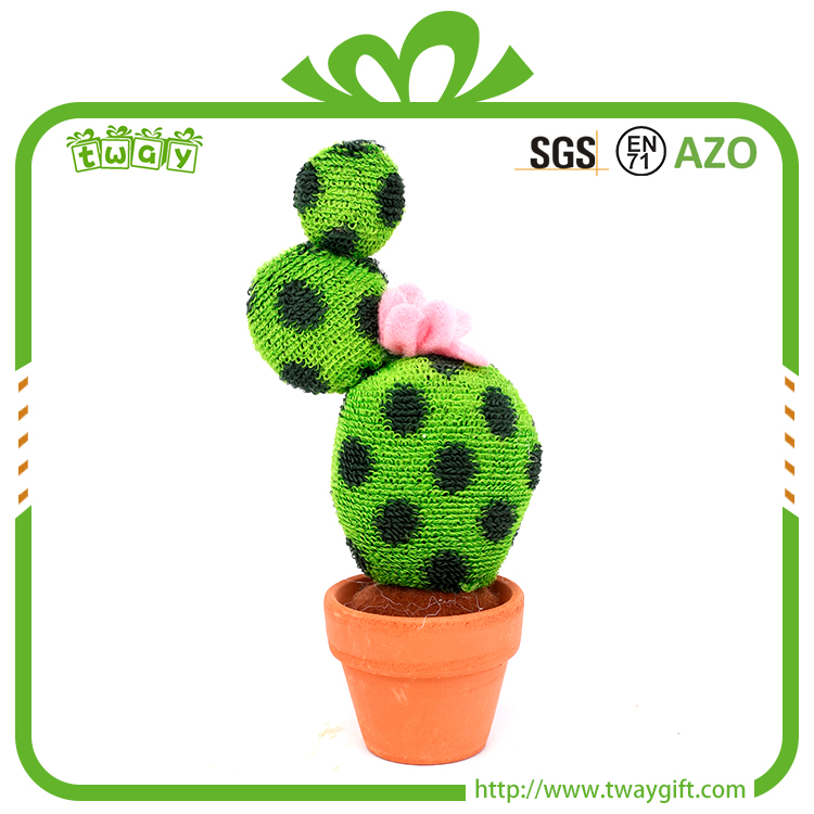 Fabric cactus primitive home decor 5 inch small artificial decor artificial plant party stage decoration