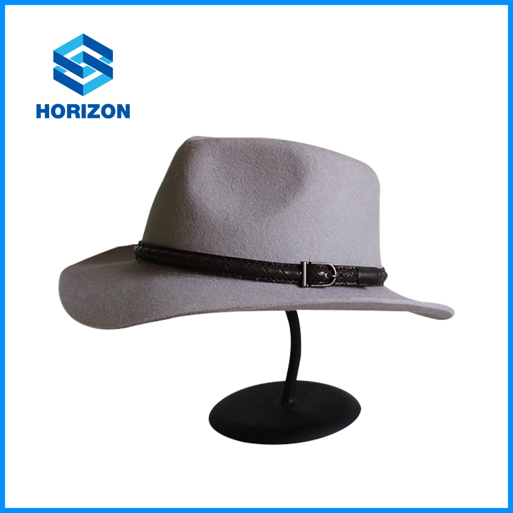 cheap price white top hat mens fur hat wholesale church hats with leather PU accessory