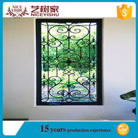 latest decorative beautiful luxury modern classic wrought iron window guard from philippines