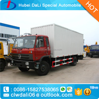 DONGFENG brand 2 axels 6 wheels big box van cargo truck from China